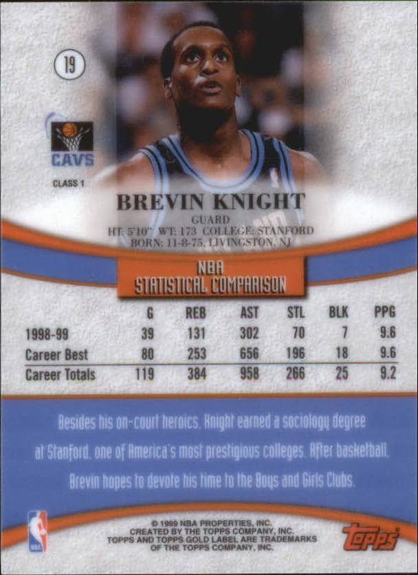 1999-00-Topps-Gold-Label-Class-1-Basketball-Cards-Pick-From-List thumbnail 37