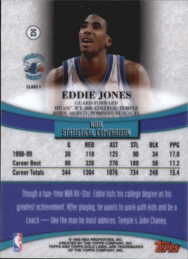 1999-00-Topps-Gold-Label-Class-1-Basketball-Cards-Pick-From-List thumbnail 45