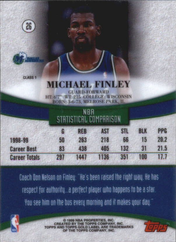 1999-00-Topps-Gold-Label-Class-1-Basketball-Cards-Pick-From-List thumbnail 47