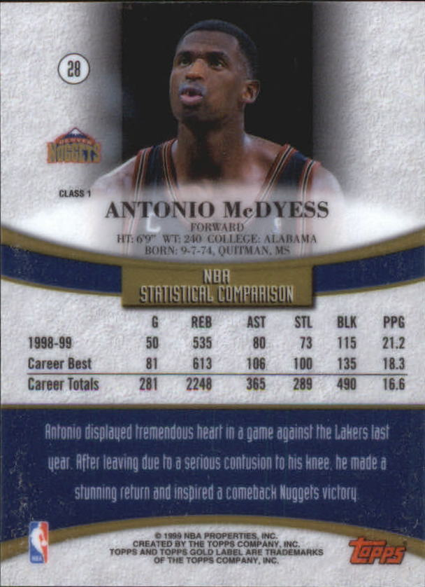1999-00-Topps-Gold-Label-Class-1-Basketball-Cards-Pick-From-List thumbnail 51
