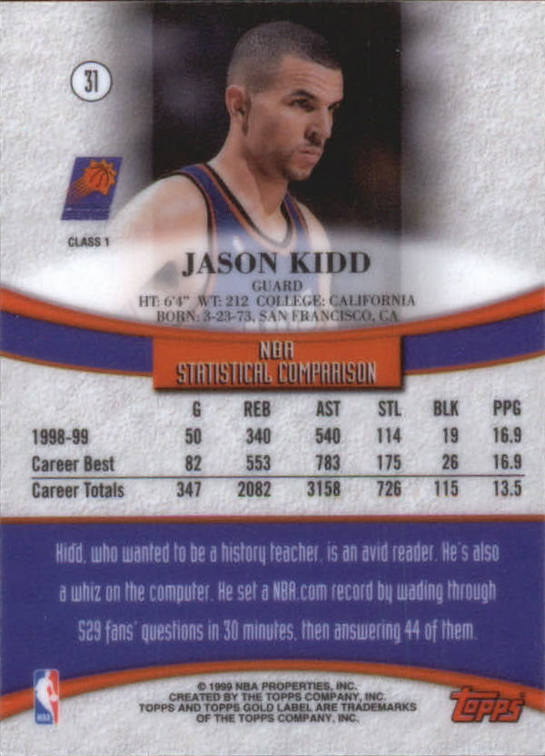 1999-00-Topps-Gold-Label-Class-1-Basketball-Cards-Pick-From-List thumbnail 55