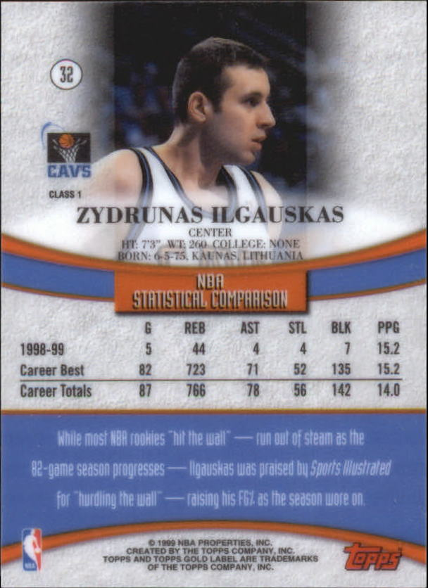 1999-00-Topps-Gold-Label-Class-1-Basketball-Cards-Pick-From-List thumbnail 57