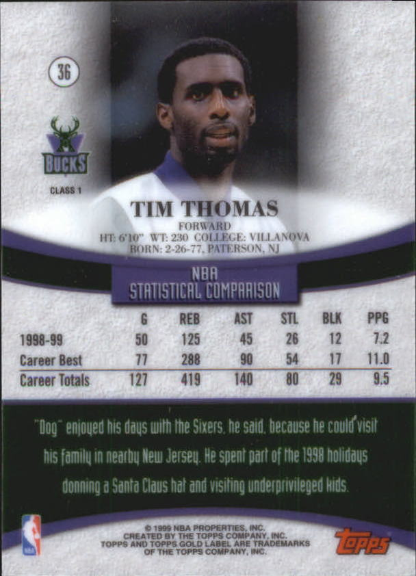 1999-00-Topps-Gold-Label-Class-1-Basketball-Cards-Pick-From-List thumbnail 65