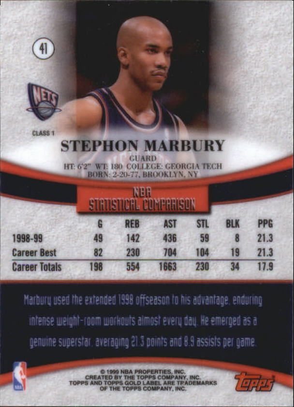 1999-00-Topps-Gold-Label-Class-1-Basketball-Cards-Pick-From-List thumbnail 73