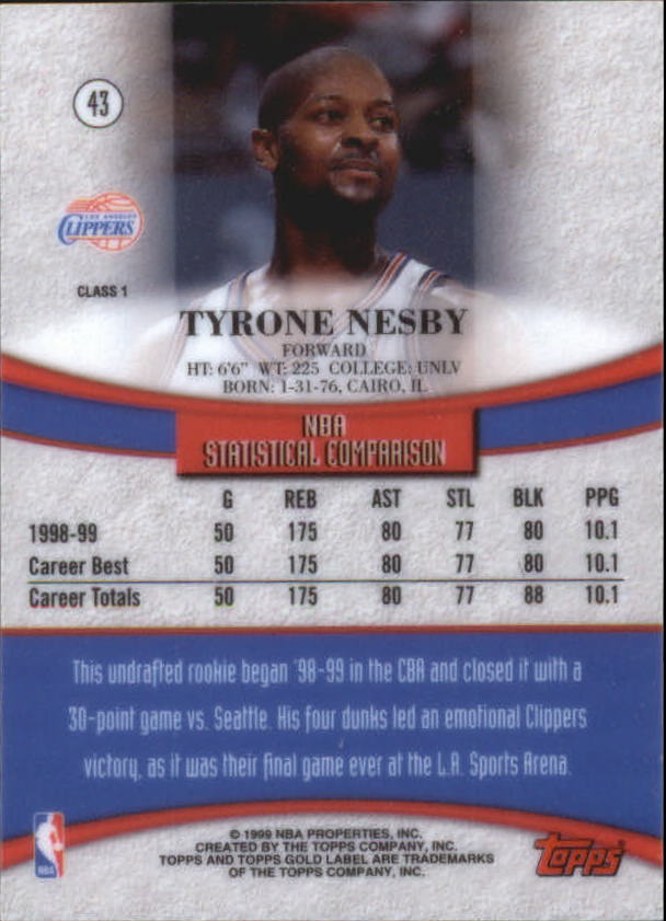 1999-00-Topps-Gold-Label-Class-1-Basketball-Cards-Pick-From-List thumbnail 77