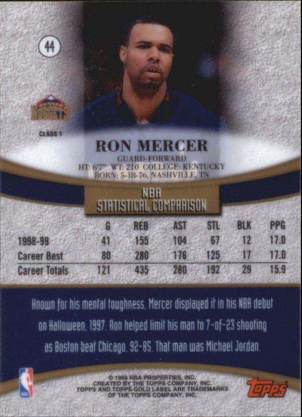 1999-00-Topps-Gold-Label-Class-1-Basketball-Cards-Pick-From-List thumbnail 79