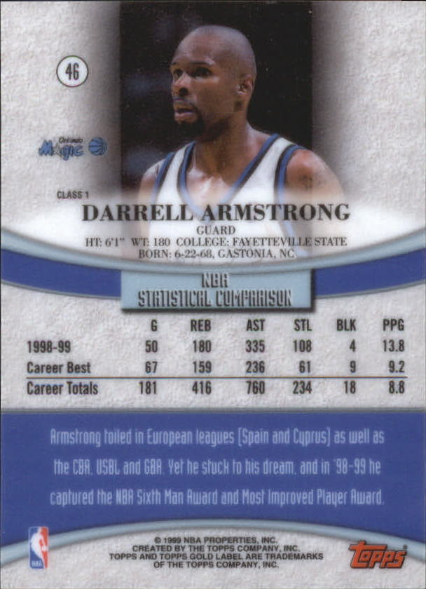 1999-00-Topps-Gold-Label-Class-1-Basketball-Cards-Pick-From-List thumbnail 83