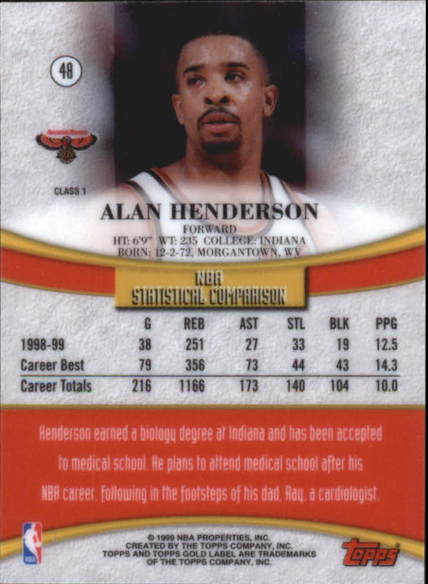 1999-00-Topps-Gold-Label-Class-1-Basketball-Cards-Pick-From-List thumbnail 85