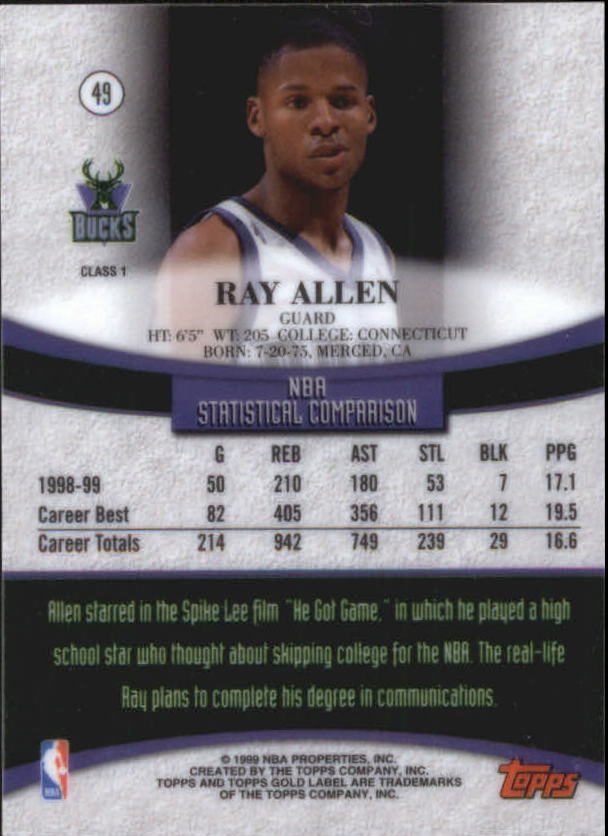 1999-00-Topps-Gold-Label-Class-1-Basketball-Cards-Pick-From-List thumbnail 87