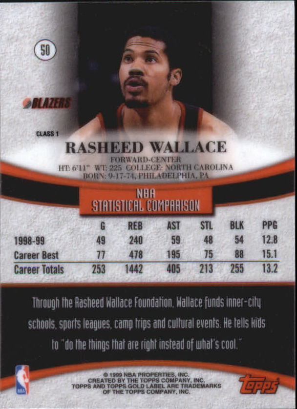 1999-00-Topps-Gold-Label-Class-1-Basketball-Cards-Pick-From-List thumbnail 89