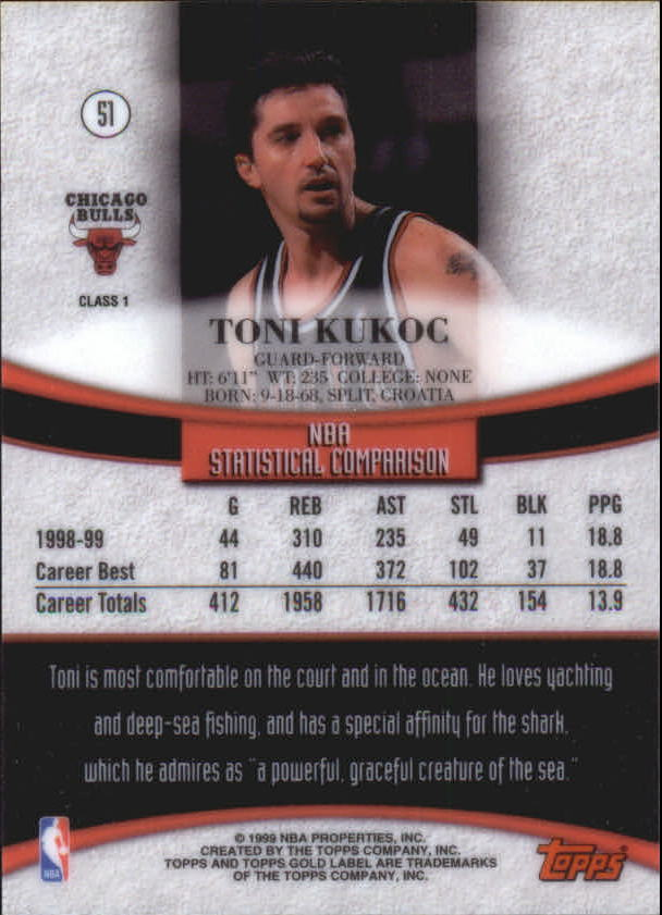1999-00-Topps-Gold-Label-Class-1-Basketball-Cards-Pick-From-List thumbnail 91