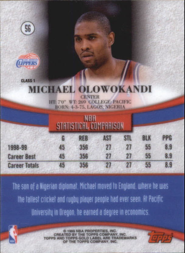 1999-00-Topps-Gold-Label-Class-1-Basketball-Cards-Pick-From-List thumbnail 101