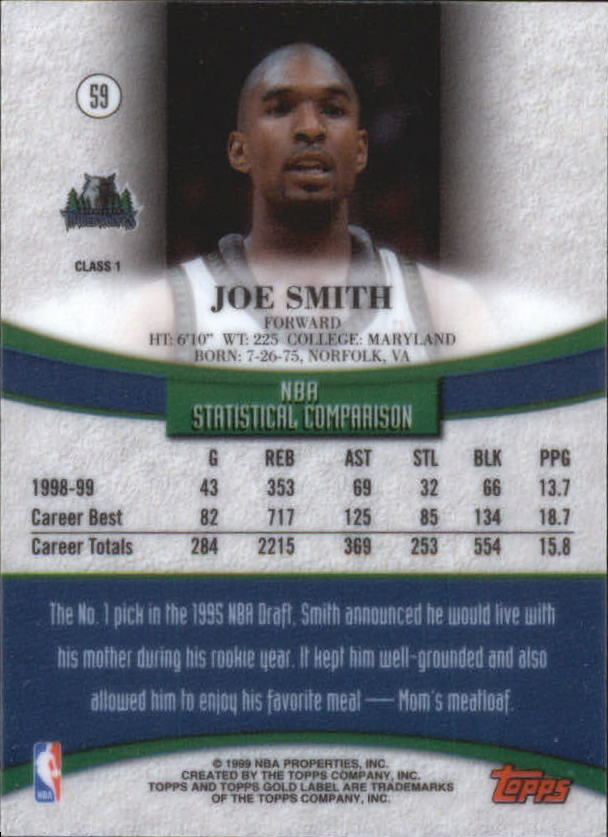 1999-00-Topps-Gold-Label-Class-1-Basketball-Cards-Pick-From-List thumbnail 107