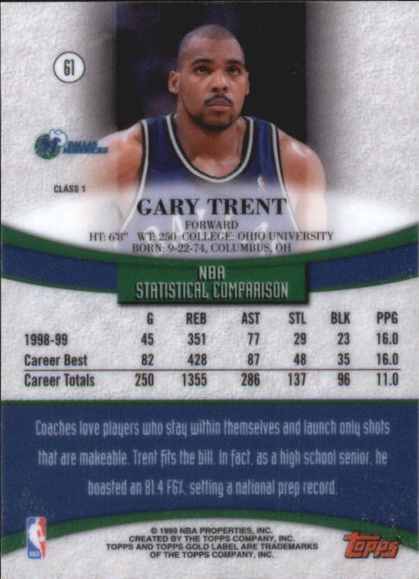 1999-00-Topps-Gold-Label-Class-1-Basketball-Cards-Pick-From-List thumbnail 109