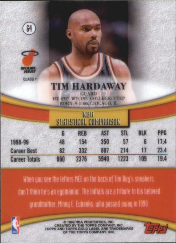 1999-00-Topps-Gold-Label-Class-1-Basketball-Cards-Pick-From-List thumbnail 113