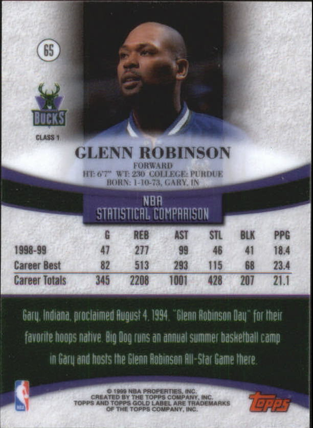 1999-00-Topps-Gold-Label-Class-1-Basketball-Cards-Pick-From-List thumbnail 115