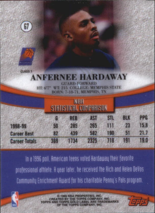 1999-00-Topps-Gold-Label-Class-1-Basketball-Cards-Pick-From-List thumbnail 119