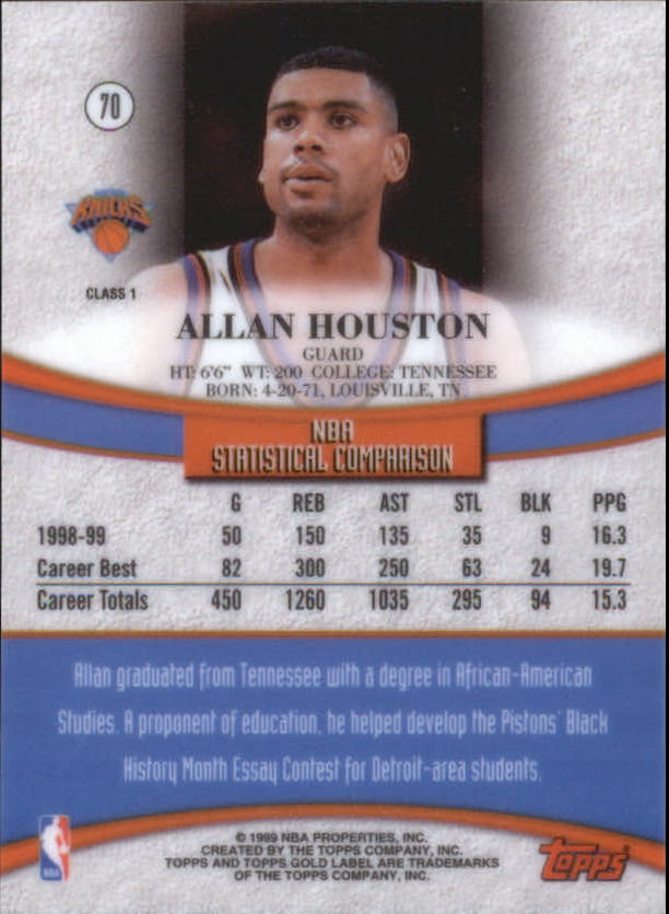 1999-00-Topps-Gold-Label-Class-1-Basketball-Cards-Pick-From-List thumbnail 125