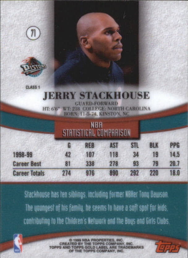 1999-00-Topps-Gold-Label-Class-1-Basketball-Cards-Pick-From-List thumbnail 127