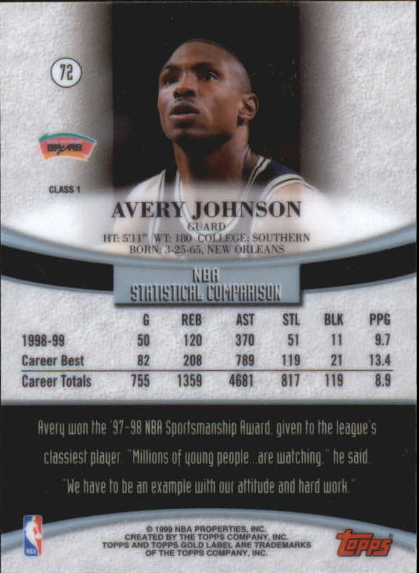 1999-00-Topps-Gold-Label-Class-1-Basketball-Cards-Pick-From-List thumbnail 129