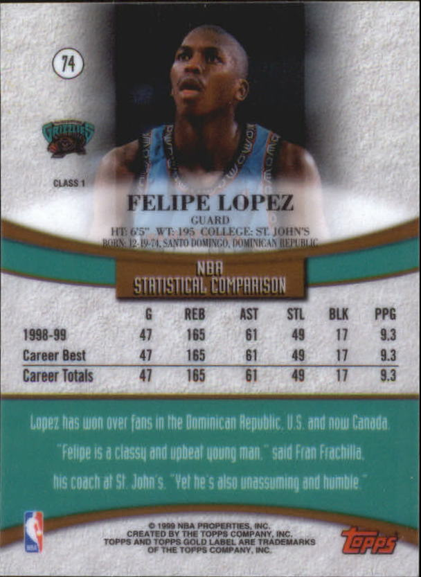 1999-00-Topps-Gold-Label-Class-1-Basketball-Cards-Pick-From-List thumbnail 133