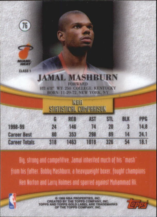 1999-00-Topps-Gold-Label-Class-1-Basketball-Cards-Pick-From-List thumbnail 137