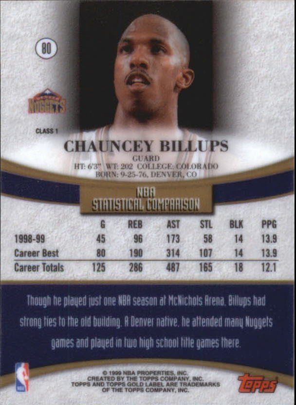 1999-00-Topps-Gold-Label-Class-1-Basketball-Cards-Pick-From-List thumbnail 143