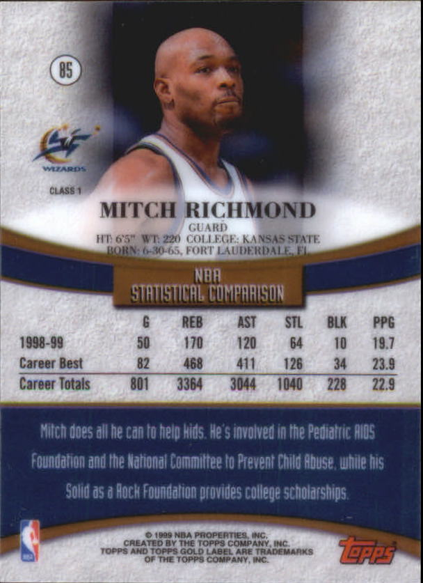 1999-00-Topps-Gold-Label-Class-1-Basketball-Cards-Pick-From-List thumbnail 153