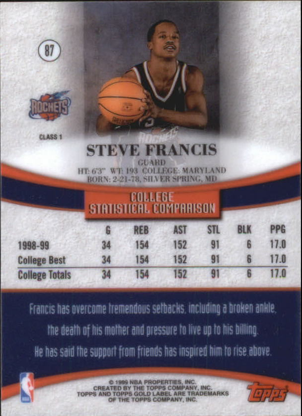 1999-00-Topps-Gold-Label-Class-1-Basketball-Cards-Pick-From-List thumbnail 155