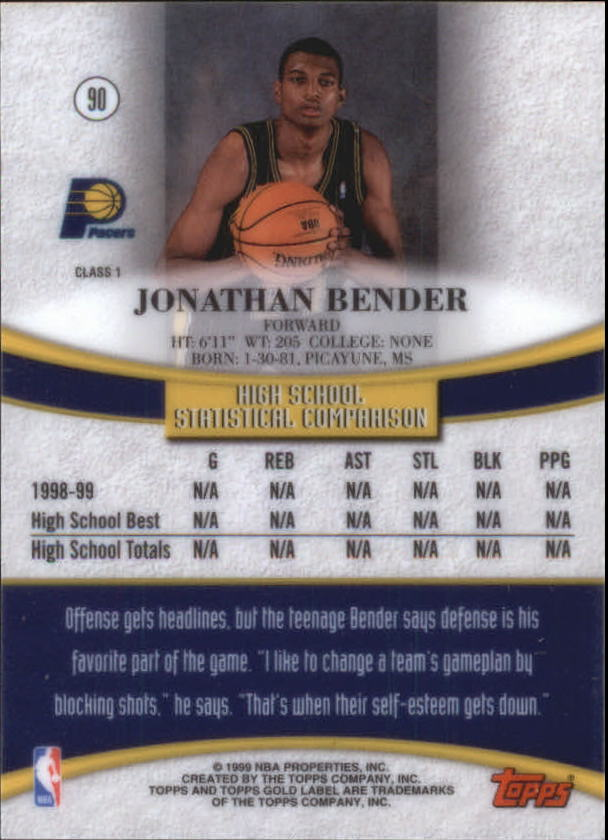 1999-00-Topps-Gold-Label-Class-1-Basketball-Cards-Pick-From-List thumbnail 161