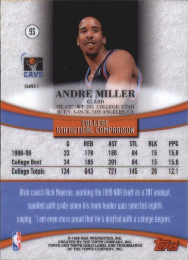 1999-00-Topps-Gold-Label-Class-1-Basketball-Cards-Pick-From-List thumbnail 166