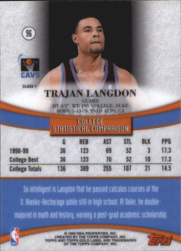 1999-00-Topps-Gold-Label-Class-1-Basketball-Cards-Pick-From-List thumbnail 171