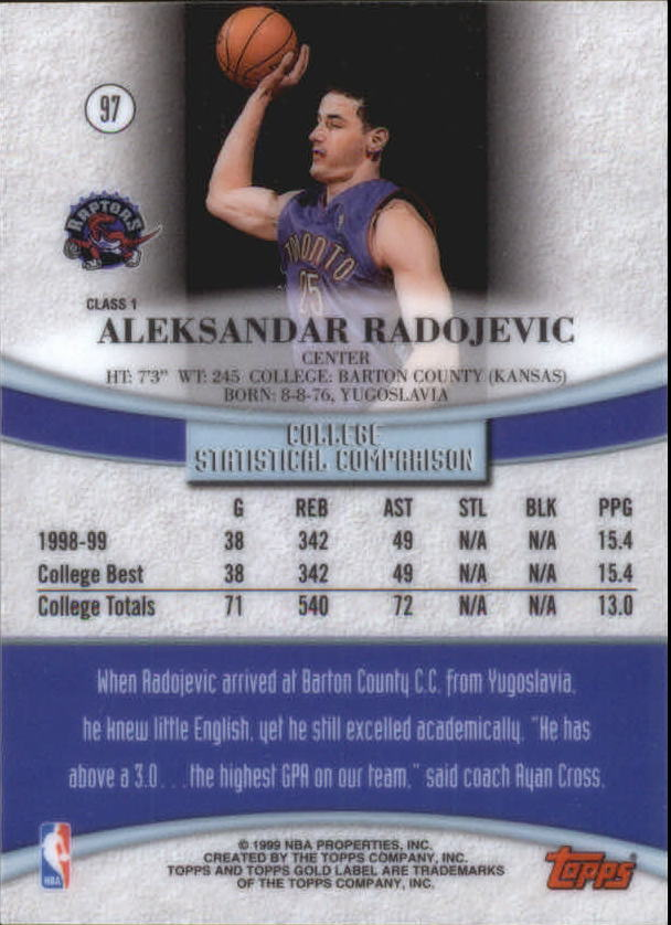 1999-00-Topps-Gold-Label-Class-1-Basketball-Cards-Pick-From-List thumbnail 173