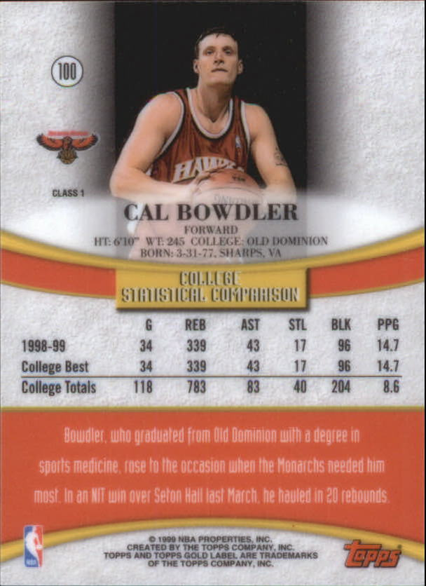 1999-00-Topps-Gold-Label-Class-1-Basketball-Cards-Pick-From-List thumbnail 177
