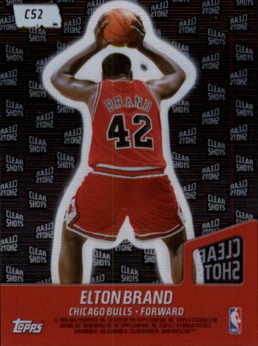 1999-00 Stadium Club Chrome Clear Shots #CS2 Elton Brand back image