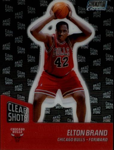 1999-00 Stadium Club Chrome Clear Shots #CS2 Elton Brand