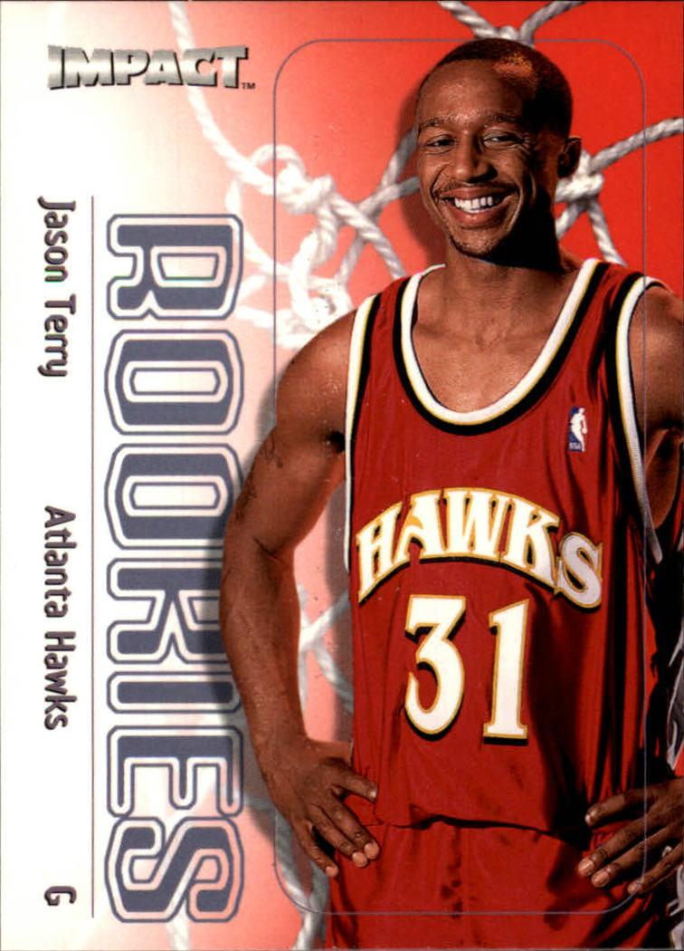 1999 00 SkyBox Impact Atlanta Hawks Basketball Card 163 Jason Terry Rookie