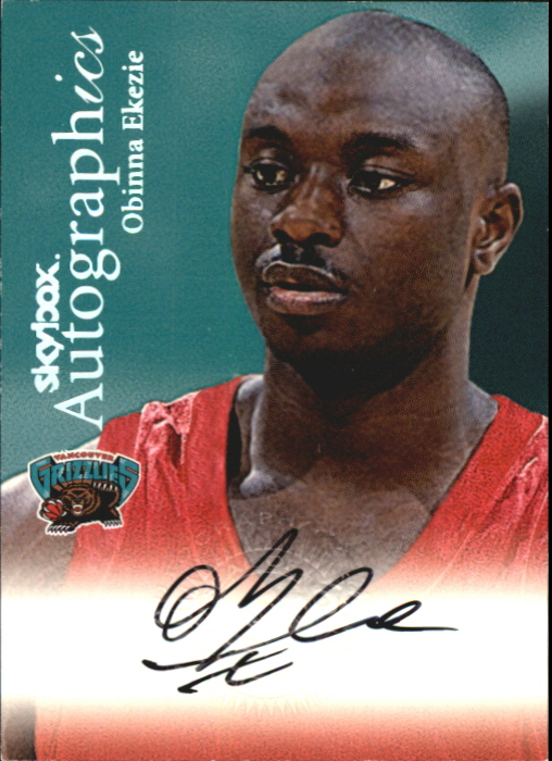 1999-00 SkyBox Premium Autographics #28 Obinna Ekezie