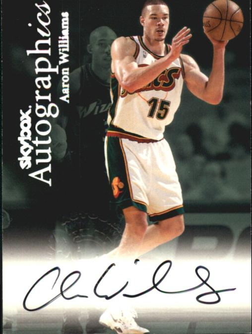 1999-00 SkyBox Premium Autographics #111 Aaron Williams