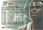 1999-00 Flair Showcase #31 David Robinson back image
