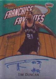 1999-00 Bowman's Best Franchise Favorites #FRA1A Tim Duncan AU