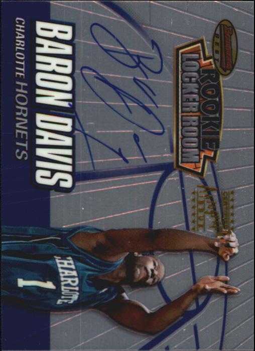 1999-00 Bowman's Best Rookie Locker Room Collection #LRCA4 Baron Davis AU