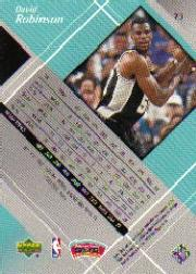 1999-00 Black Diamond #73 David Robinson back image