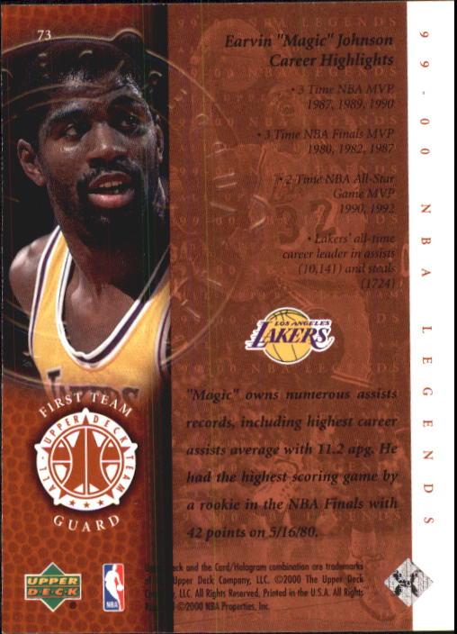 2000 Upper Deck Century Legends #73 Magic Johnson UDT back image
