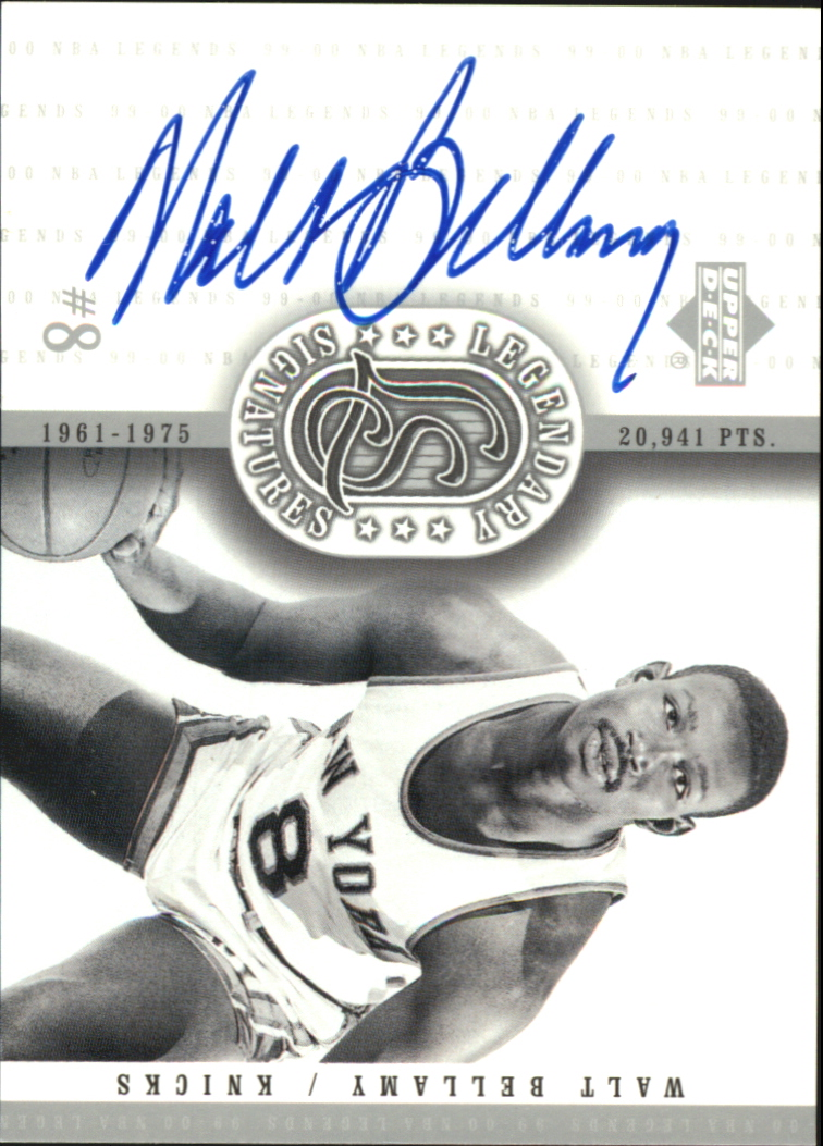 2000 Upper Deck Century Legends Legendary Signatures #WB Walt Bellamy