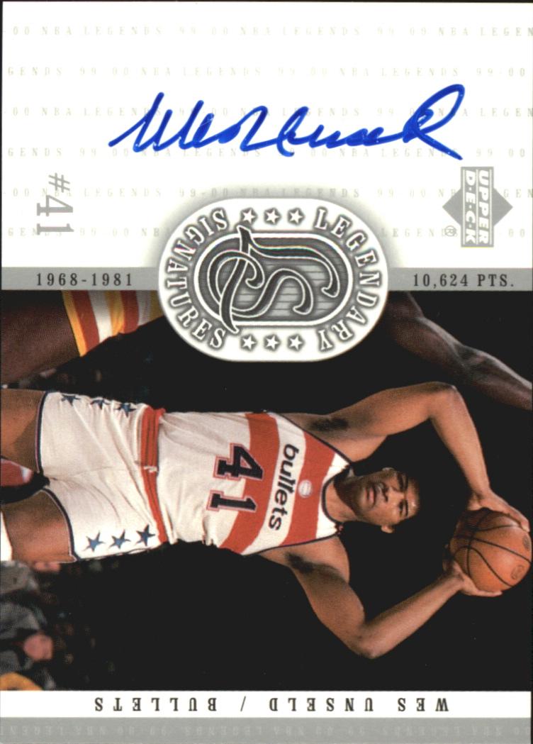 2000 Upper Deck Century Legends Legendary Signatures #WU Wes Unseld