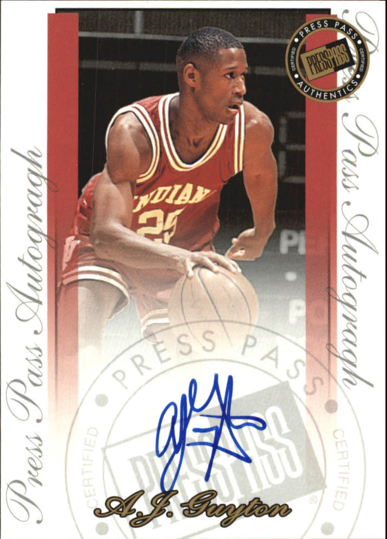 2000 Press Pass SE Autographs #10 A.J. Guyton
