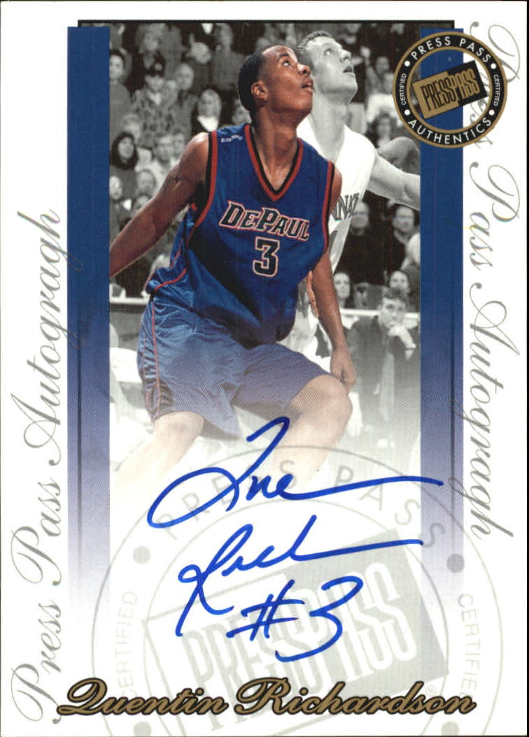 2000 Press Pass SE Autographs #30 Quentin Richardson