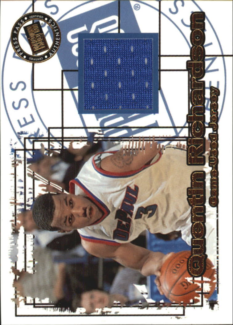 2000 Press Pass SE Jersey Cards #JC10 Quentin Richardson