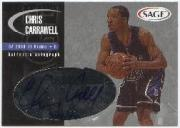 2000 SAGE Autographs Silver #A6 Chris Carrawell/400